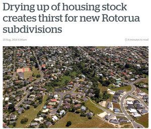 Drying up of housing stock creates thirst for new Rotorua subdivisions