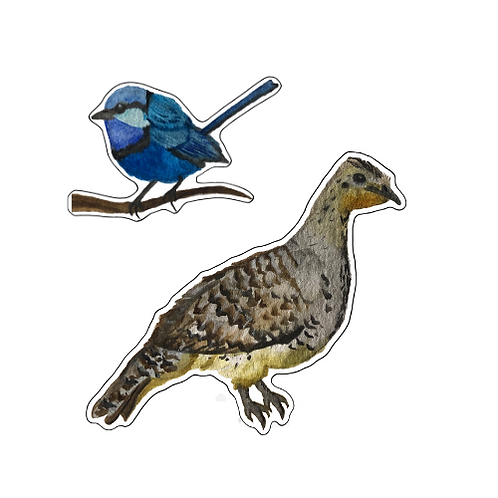 Malleefowl and Splendid Fairywren - Sticker Set