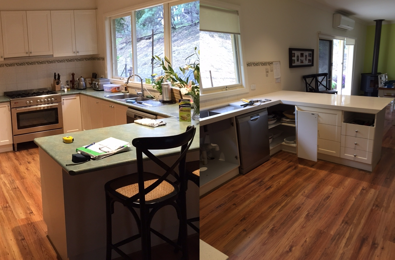 Before & After Stone Benchtop