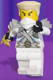 Nick as the Zane the Nindroid in Lego Legacy Heroes Unboxed