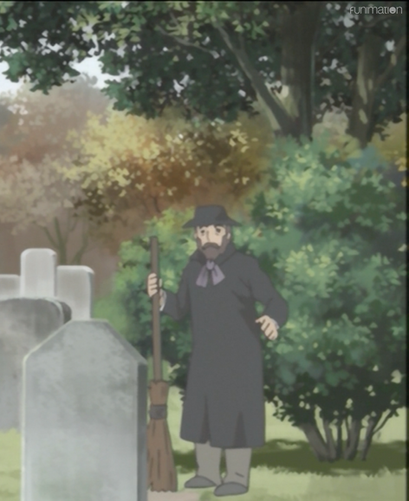 Nicholas Corda as Gravekeeper in Emma, A Victoria Romance