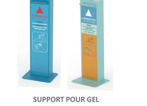 Borne de distribution de gel hydroalcoolique