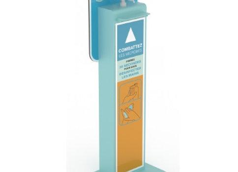 Borne de distribution de gel hydroalcoolique et de masques