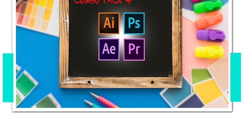 Combo Pack สุดคุ้ม 4 จตุรเทพแห่ง Adobe