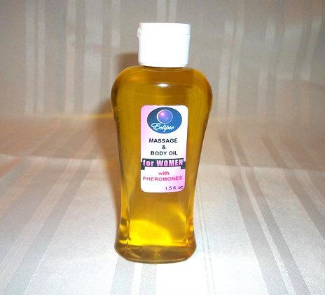 Body/Massage Oil w/Pheromone for Her 4oz.