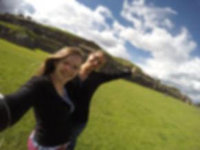Mayara e Míriam no Peru