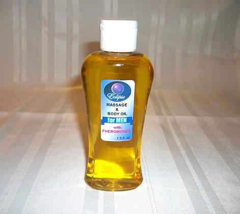 Body/Massage Oil w/Pheromone for Him 4oz.
