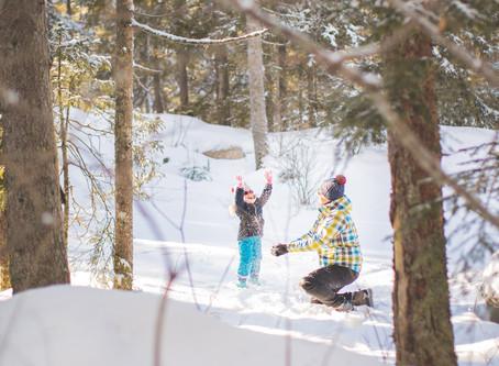 Une séance photo famille à la neige!