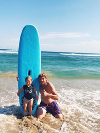 family surfing cabarete