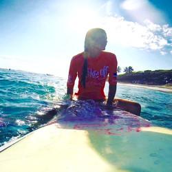 beginner surfer cabarete encuentro