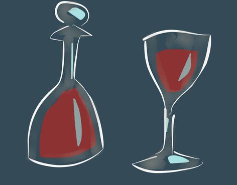 Cafafe & glass