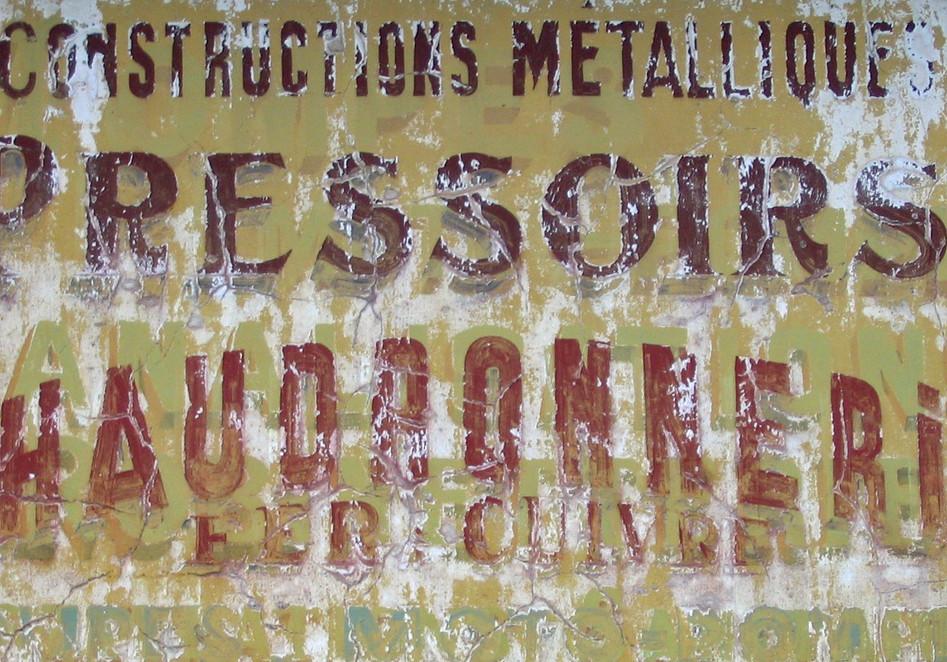 Metal sign, SW France
