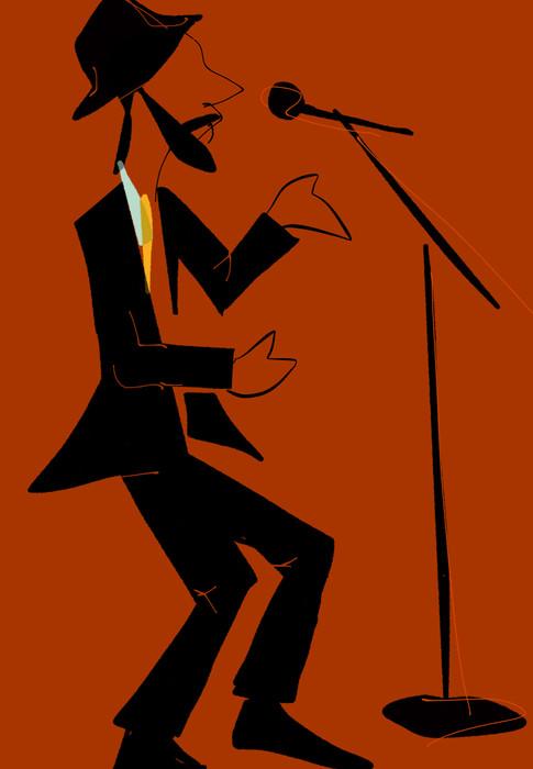 Singer in spotlight