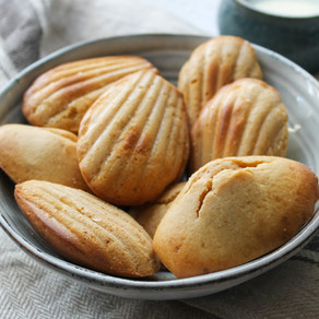 Madeleines healthy au beurre de cacahuète