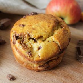 Moelleux individuel pommes/choco sans beurre ni sucre 😍