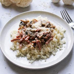 Duo de riz à la carbo (riz de chou fleur)