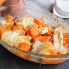 Tartiflette patates douces / courges