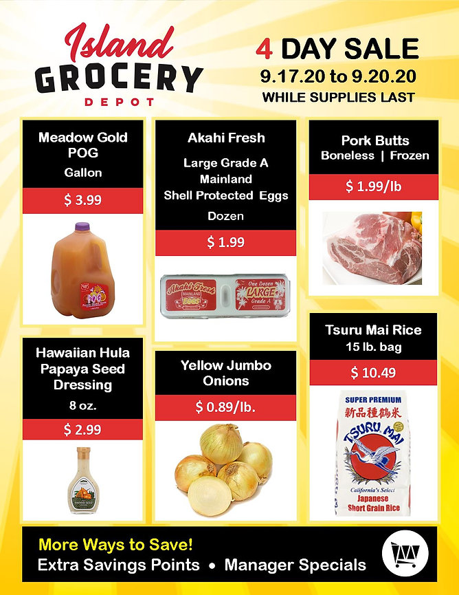 Island Grocery Depot_4 Day Sale_9.17 to