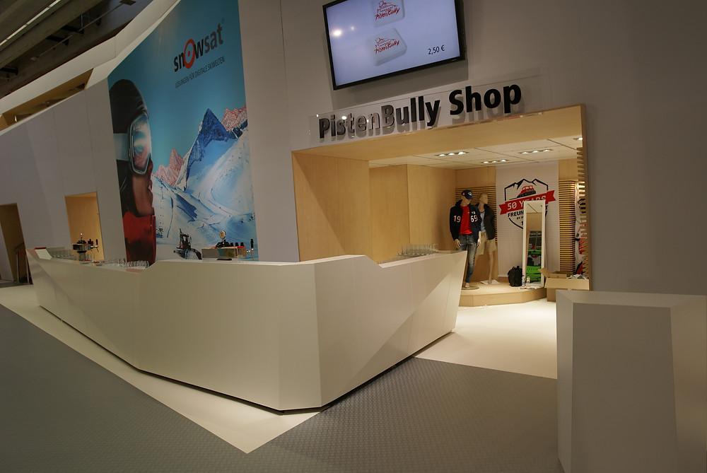 Der PistenBully-Shop Stand auf der Interalpin 2019