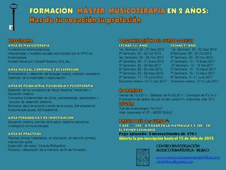 Abierto el plazo de matriculación para el Máster en Musicoterapia 2015-17.