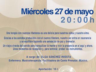 CONCIERTO CUENCOS TIBETANOS Y DE CUARZO POR OLGA SÁNCHEZ. 27 DE MAYO
