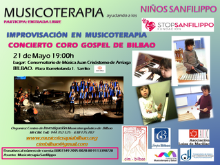 CONCIERTO 21 DE MAYO : CORO GOSPEL E IMPROVISACIÓN MUSICOTERAPEUTICA