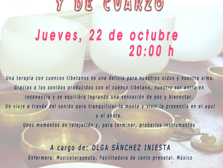 CONCIERTO CUENCOS TIBETANOS Y DE CUARZO- OLGA SANCHEZ