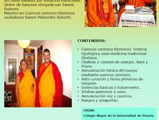 CUENCOS CANTORES TIBETANOS: LAMA LOSEL  10-12 DE JULIO