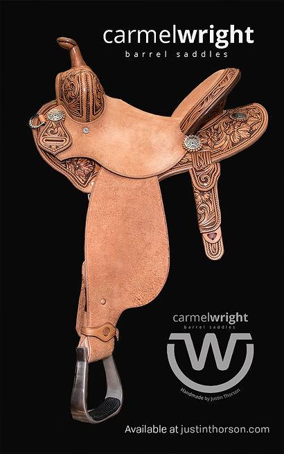 Carmel Wright Barrel Saddle