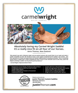 Carmel Wright Saddles Ad