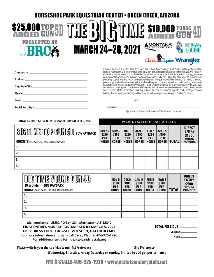 Big Time Entry Form