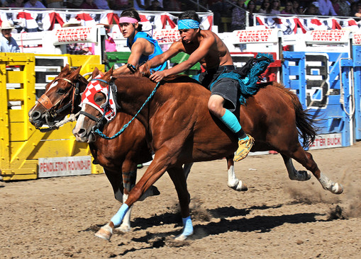 Relay Race at Pendleton Round-Up