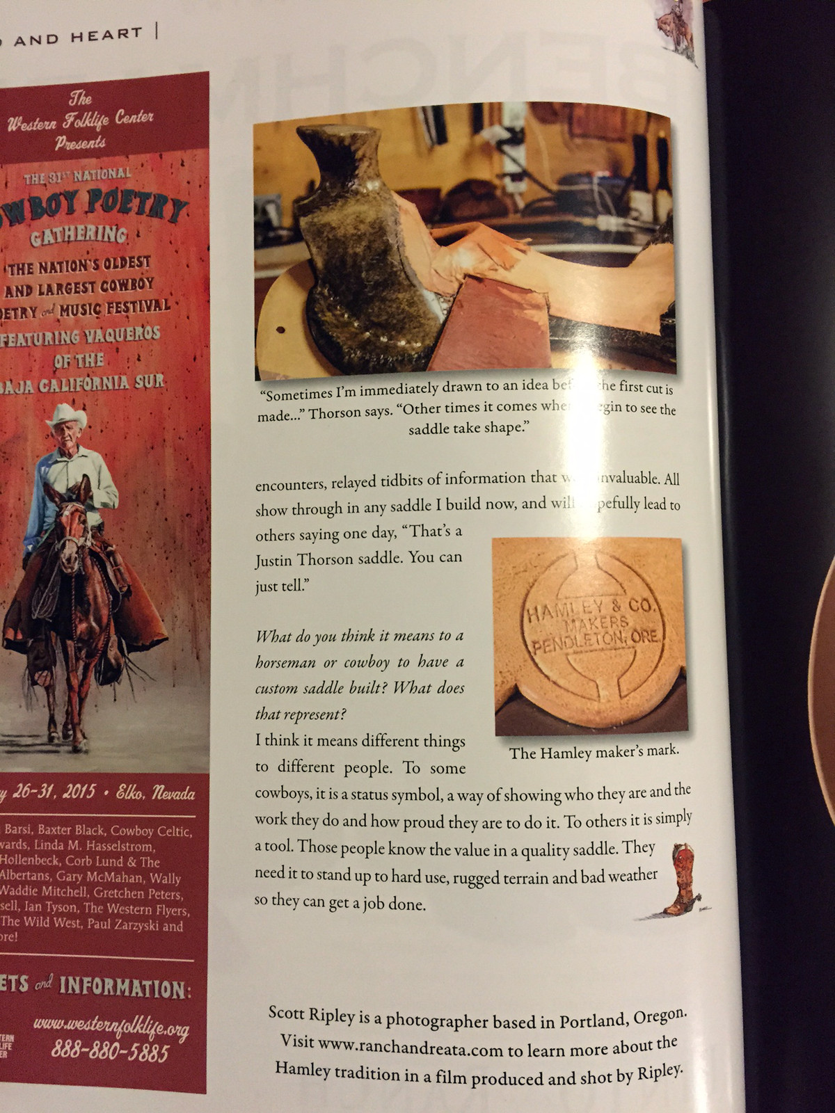 Justin Thorson Custom Saddles | About