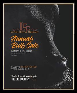 Lufkin Annual Bull Sale Catalog