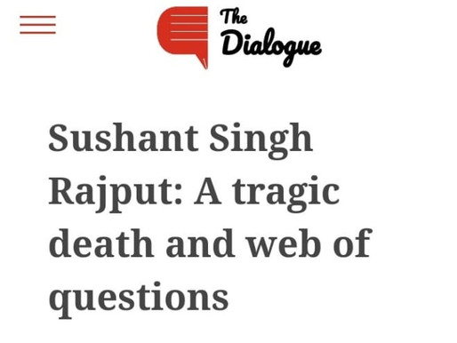 SSR: A tragic death and web of questions
