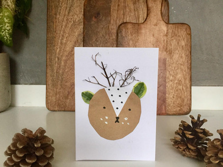 Simple Reindeer Christmas Cards