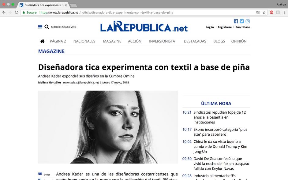 La Republica Newspaper Publication