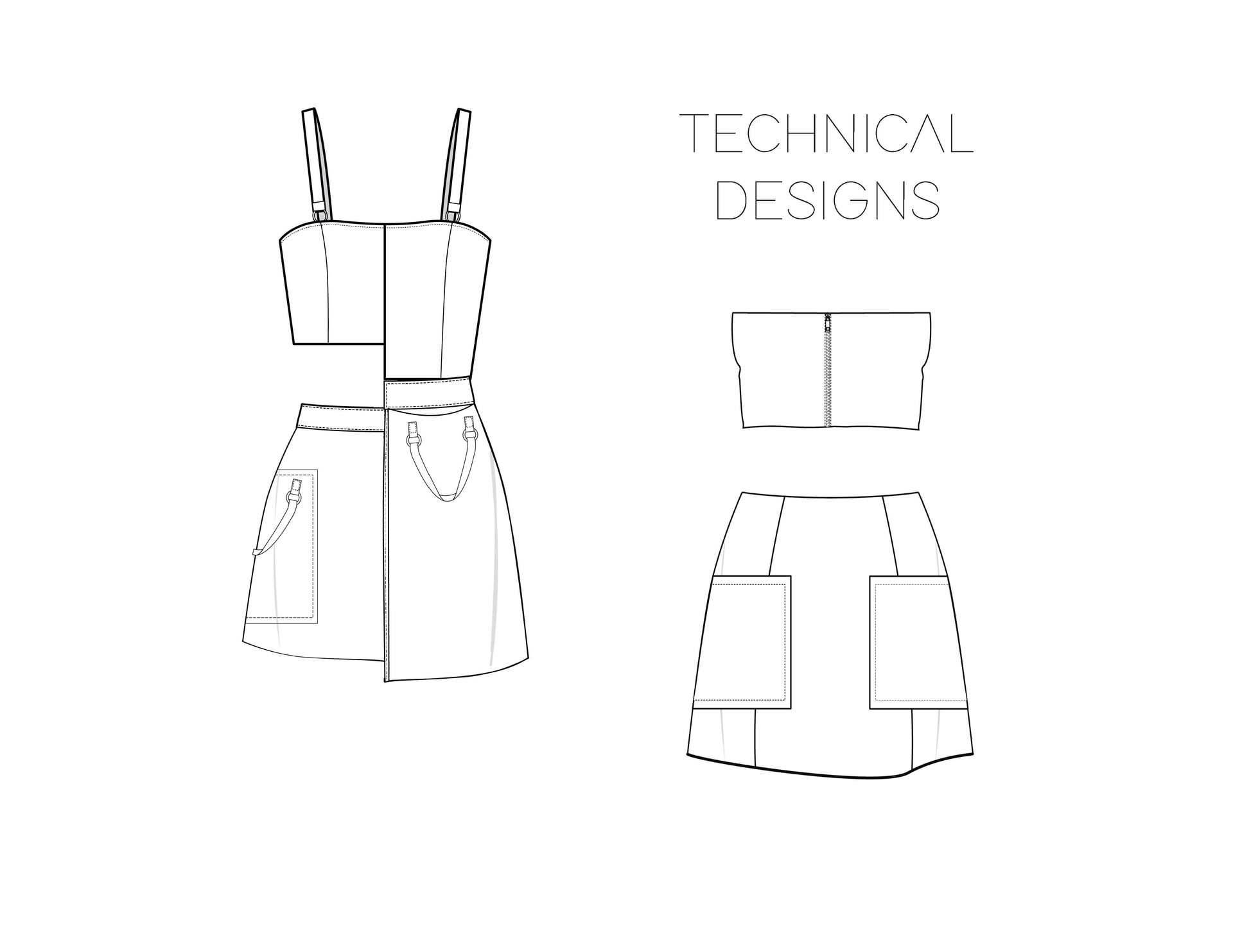 Piñatex technical drawings