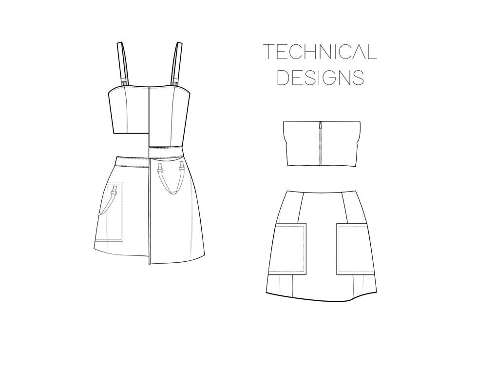 Piñatex technical drawings