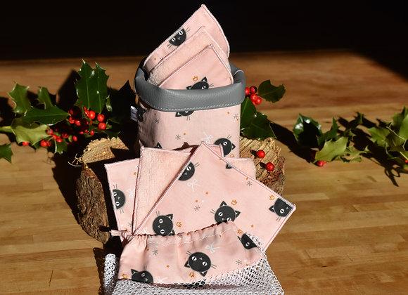 Kit Lingettes démaquillantes petit chat rose