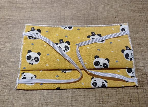 Masque enfant panda ocre