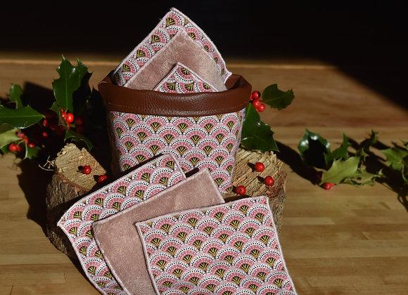 Kit Lingettes démaquillantes écaille rose