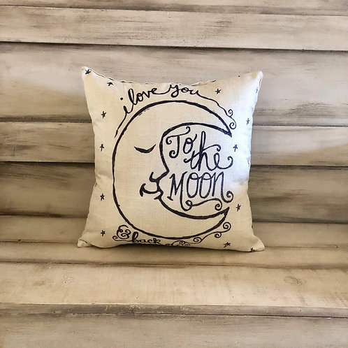 Throw Pillow - To The Moon