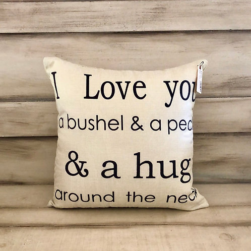 Throw Pillow - Bushel and a Peck