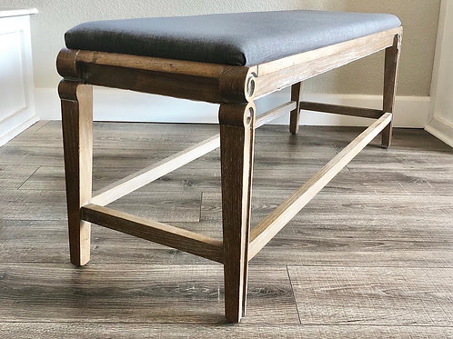 4 Foot Gray Bench | Two Available