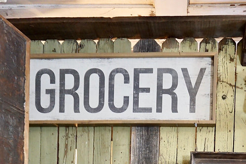 Large Grocery Sign