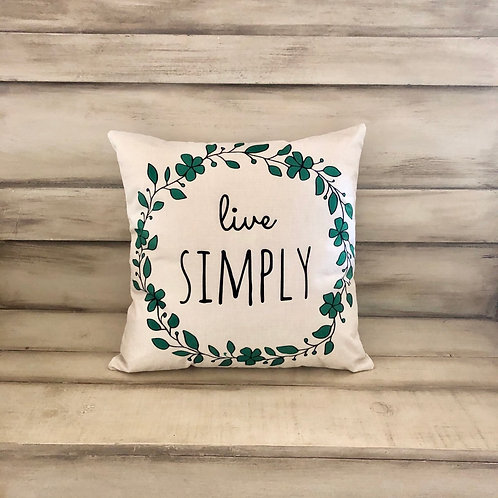 Throw Pillow - Live Simply