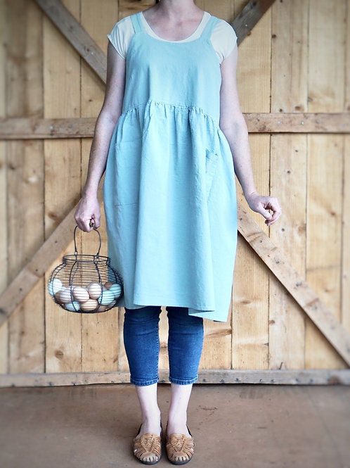Pinafore Apron With Two Pockets {Duck Egg Blue}