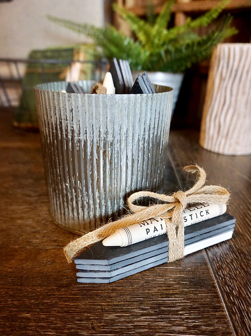 Slate Herb Markers with Paint Stick