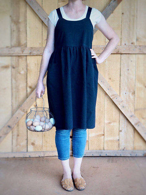 Pinafore Apron With Two Pockets {Charcoal}